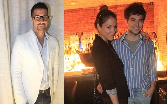 Fernando Torquatto e o Julia Almeida com o namorado, o stylist britânico Sebastian Bailey