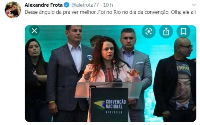 Frota utilizou redes para publicar lembrança com Queiroz