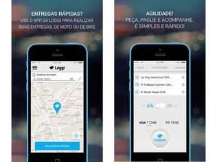 Disponível para iOS, Loggi é um aplicativo de entrega de encomendas por moto ou bicicleta. O serviço só está disponível para a cidade de São Paulo
