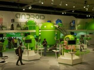 Espaço do Android no Mobile World Congress