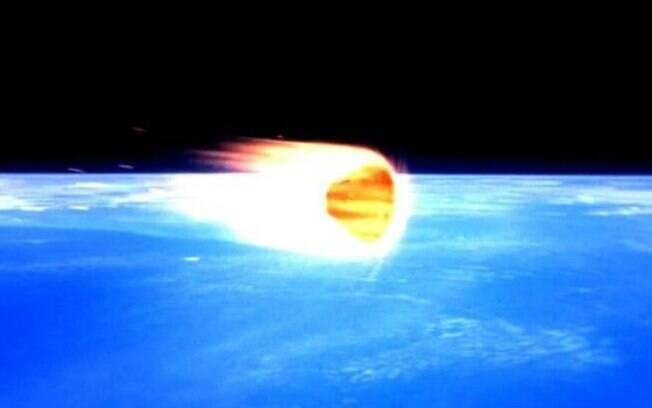 Apollo 10 entrando na atmosfera após completar sua missão ao redor da Lua