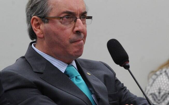 12 de março de 2015: Cunha fala na sessão da CPI da Petrobras que não tem conta no exterior. Foto: Antonio Cruz/Agência Brasil -12.3.15