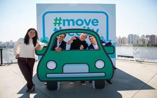 Executivos do Waze divulgam o Waze Carpool: a ideia é que a cidade se movimente em carros por meio de caronas
