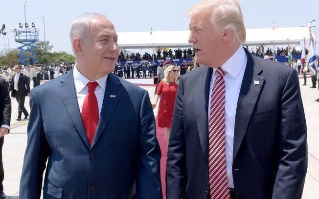 Trump tem boa relação com o primeiro-ministro de Israel