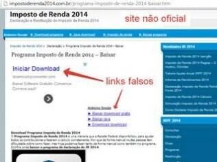 Buscadores como Google e Bing podem destacar links para programas falsos de declaração de Imposto de Renda