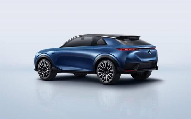 O Honda e: Concept tem linha futurísticas combinando elementos de um modelo hatchback com um SUV