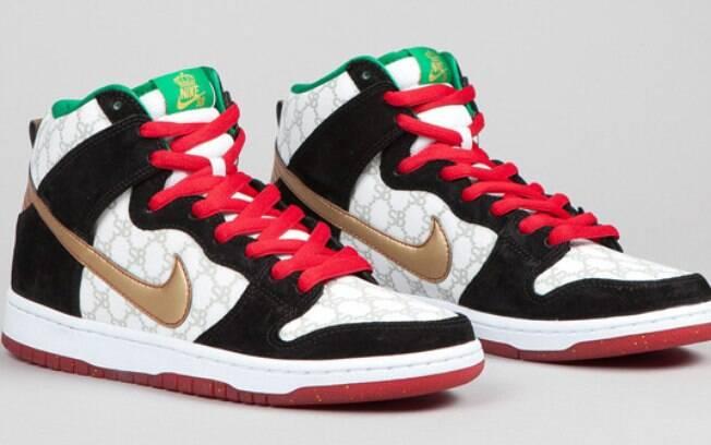 3b9de27ce1 Não é fácil encontrar um tênis Nike SB Flom Dunk High. Mas quem conseguir  vai