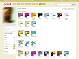 Orkut permitia que o usuário mudasse a cor do seu perfil ou aplicasse algum tema personalizado