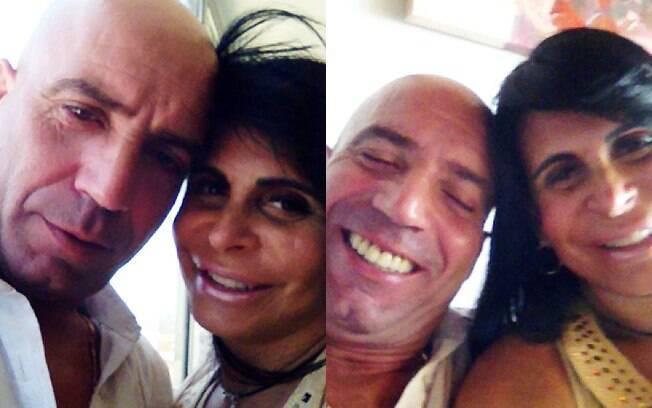 Gretchen e Carlos Matos, seu novo namorado