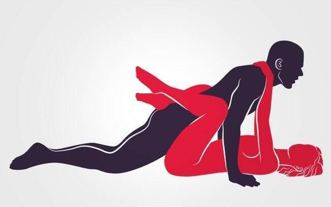 Perfeito e confortável exemplo de mulher por baixo e com a barriga para cima, o que facilita a fecundação