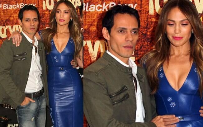 Jennifer Lopez e Marc Anthony mostraram que os problemas da separação foram ultrapassados