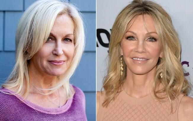 Stacy Shanahan (direita) mudou o nariz na expectativa de se parecer com a atriz Heather Locklear
