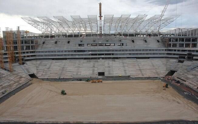 Obras do estádio do Corinthians completaram  dois anos e atingiu 78% de conclusão