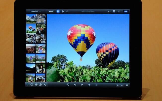 iPhoto é um dos programas que aproveita a nova tela do iPad
