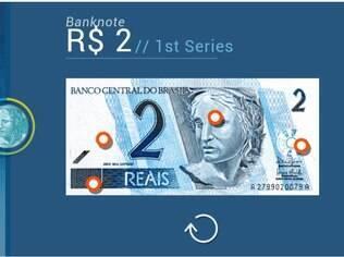 Dinheiro Brasileiro (no Google Play, Brazilian Banknotes) ajuda a reconhecer notas falsas. Grátis para iPhone e Android