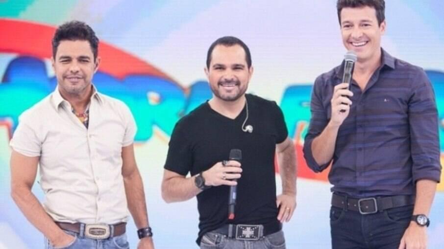 Zezé di Camargo e Luciano no programa de Rodrigo Faro