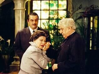 Otávio Augusto, Nicette Bruno e Hugo Carvana: ator sofria de Mal de Parkinson