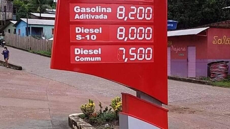 Após aumentos seguidos da Petrobras cidade no Acre vende gasolina a R$ 8,20