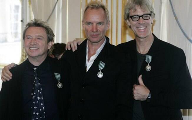 The Police, banda formada em 1977, dona dos hits como Every Breath You Take e Roxanne