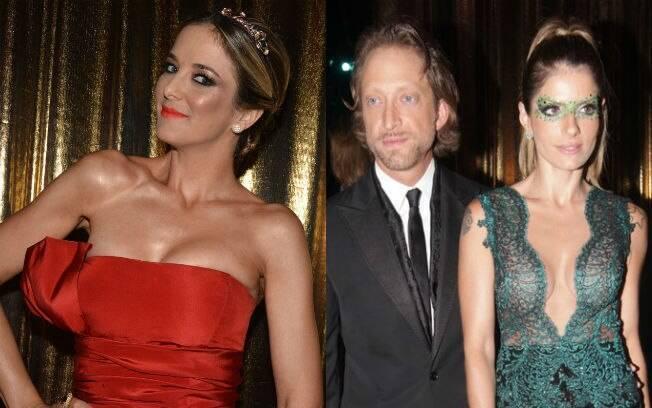 Ticiane Pinheiro curtiu o mesmo baile que o ex-affair Bruno Garfinkel, que chegou acompahado de Carol Magalhães