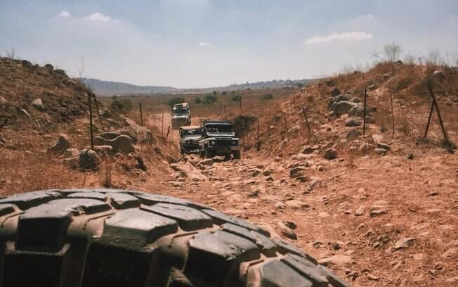 Passeio de Jeep pelo deserto no norte de Israel
