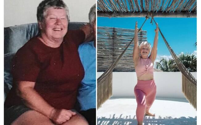 Aposentada impressiona e motiva web ao perder peso com 73 anos