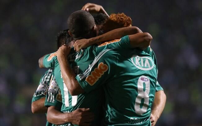 O Palmeiras disputa a vaga nas quartas de  final contra o Tijuana, do México