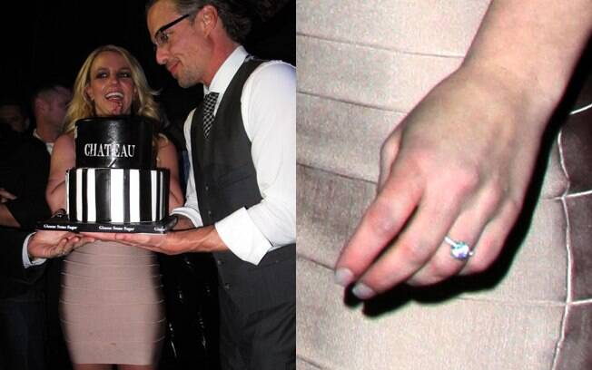 Britney Spears exibiu sua aliança de noivado pela primeira vez no aniversário do amado