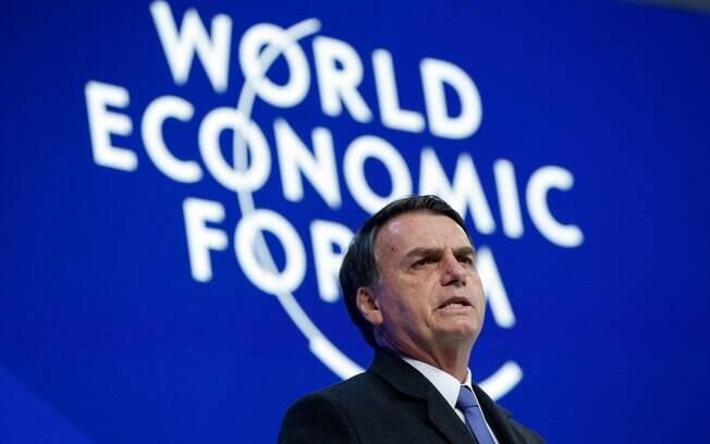 Bolsonaro discursou no Fórum Mundial Econômico, em Davos