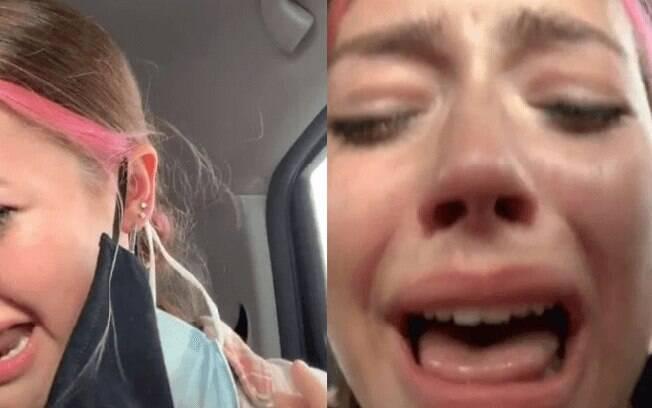 No vídeo, Sissy aparece chorando e soluçando de dor