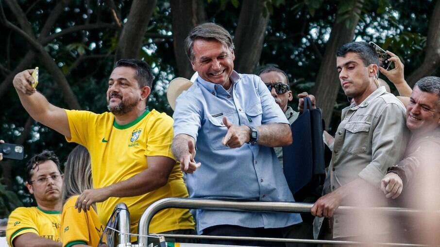 O presidente Jair Bolsonaro (sem partido) durante atos antidemocráticos em 7 de setembro