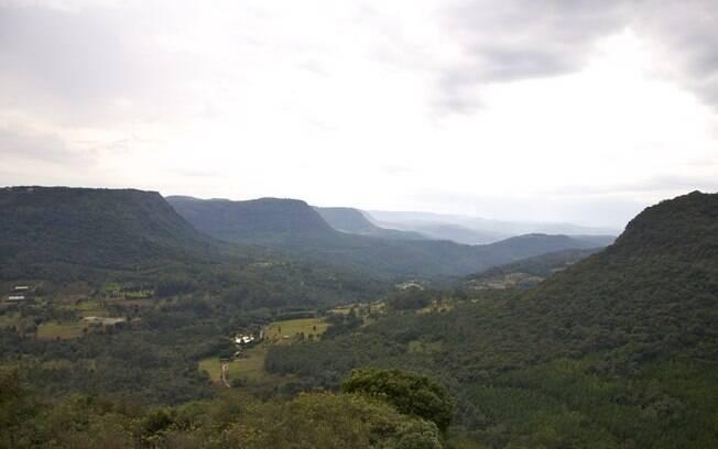 Vista do Vale do Quilombo, em Gramado. Foto: Divulgação