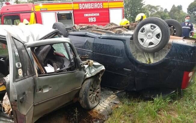 Acidente na BR-280 em Santa Catarina