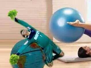 Depois de cair no Horto, Victor se jogou na aula de Pilates