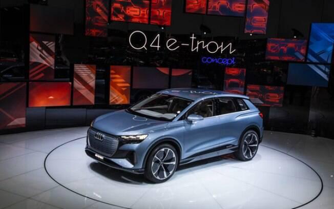 Audi Q4 e-tron surge em versão conceitual no Salão de Genebra 2019. Modelo de produção fica para o ano que vem