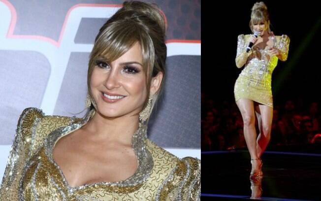 Claudia Leitte arrasou no look dourado na final do 'The Voice Brasil'