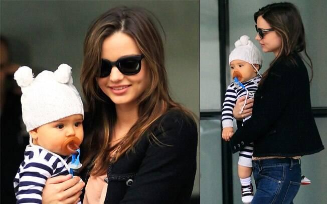 Miranda Kerr e seu filho, Flynn