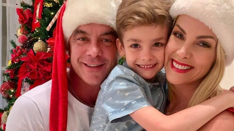 Ana Hickmann, Alexandre Correa e o filho