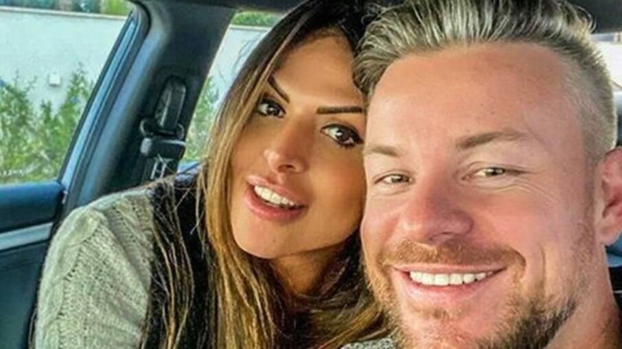 Silvye Alves e seu ex, que a agrediu