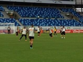 Jogadores do Atlético ficaram impressionados com a qualidade do gramado da Arena Pantanal