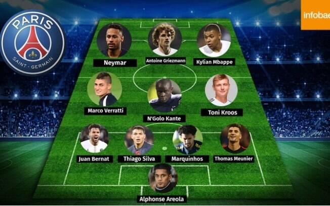 O time dos sonhos do PSG tem Kross, Kanté e Griezmann
