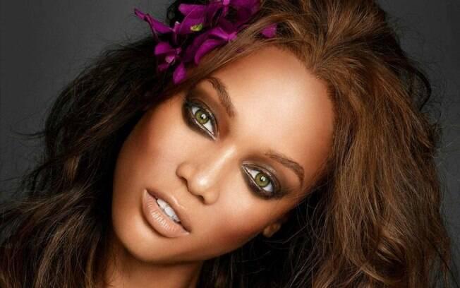 Modelo, atriz e apresentadora, Tyra Banks é considerada uma das mais belas mulheres do planeta