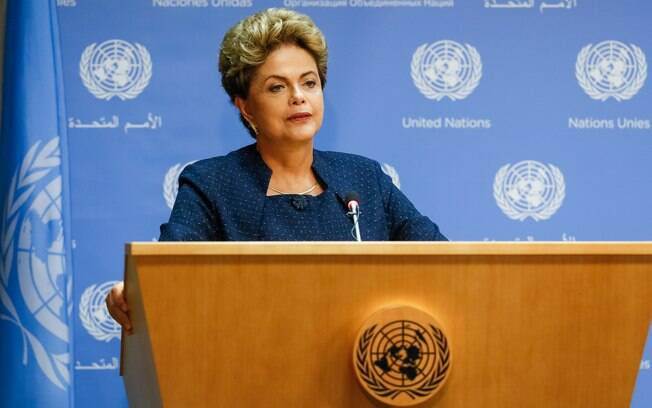 Presidente Dilma Rousseff durante coletiva de imprensa na ONU