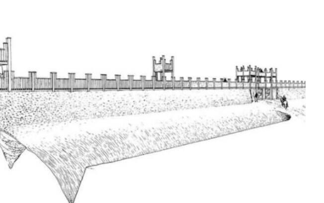 Concepção artística de como seria a fortificação romana
