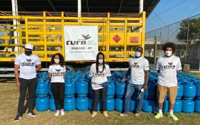 Cufa distribui botijões de gás em Sumaré para famílias cadastradas