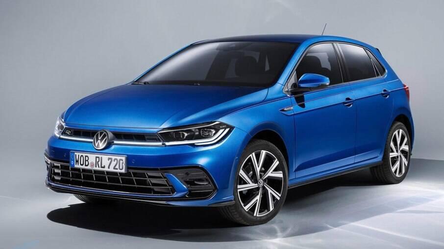 VW Polo 2022:  frente ganha novo para-choque e faróis matrix de série e grade iluminada entre as novidades