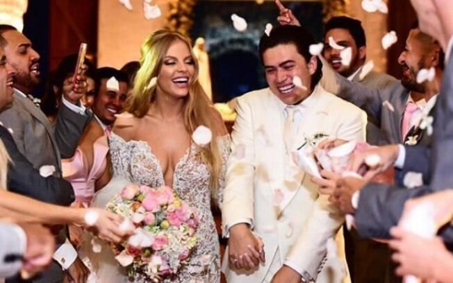 Luísa Sonza e Whindersson Nunes realizaram o casamento na Capela dos Milagres, cerca de 100 quilômetros de Maceió