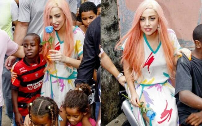 Lady Gaga é uma das famosas que visitaram o Brasil