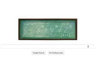 Doodle em homenagem ao matemático