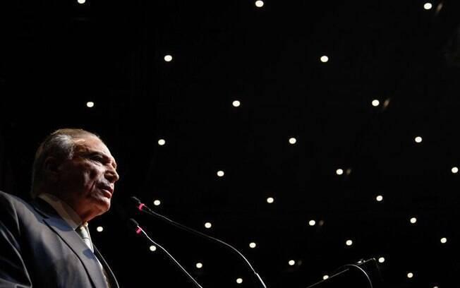 Presidente Michel Temer durante homenagem de entidades líbano-brasileiras em São Paulo, na noite desta segunda-feira